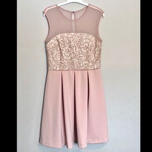 Blush pink SD Collection cocktail dress